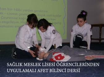 İskilip Sağlık Meslek Lisesi öğrencilerinden sivil savunma günü programı