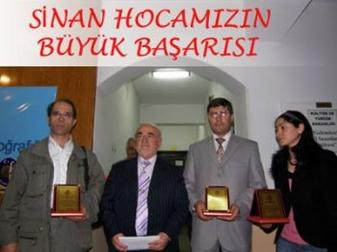 Sinan Güleç Düzenlenen törenle ödülünü aldı.